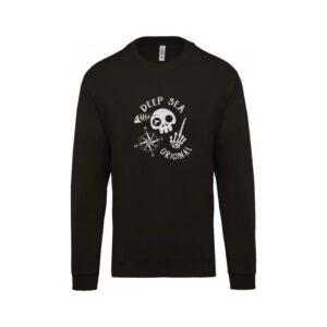 hímzett környakas gyerek pulóver, vitorlás, tengerész, sailor, sea, kalóz, pirate
