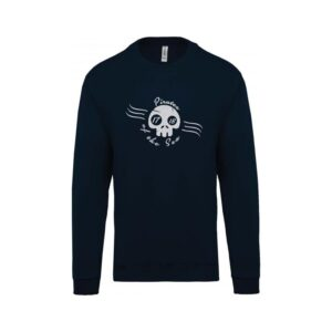 hímzett környakas gyerek pulóver, kalóz, kalózos, pirate, tenger sea