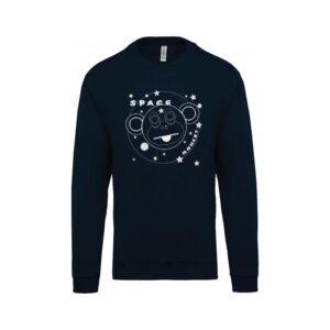 hímzett környakas gyerek pulóver, űrhajós, majom, space monkey