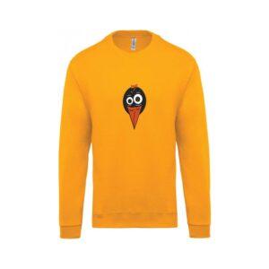 hímzett környakas gyerek pulóver, csőri, tweety, állatos, madaras, bird