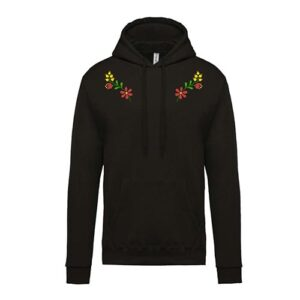hímzett kapucnis gyerek pulóver, népi virágos, folk flower