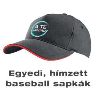 egyedi, hímzett baseball sapkák