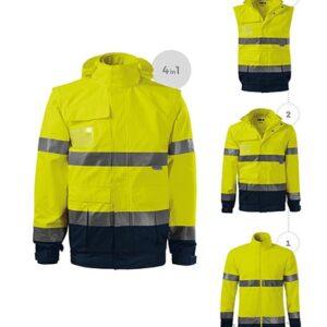 láthatósági munkavédelmi kabát, polár, mellény vízálló 4in1 emblémázva